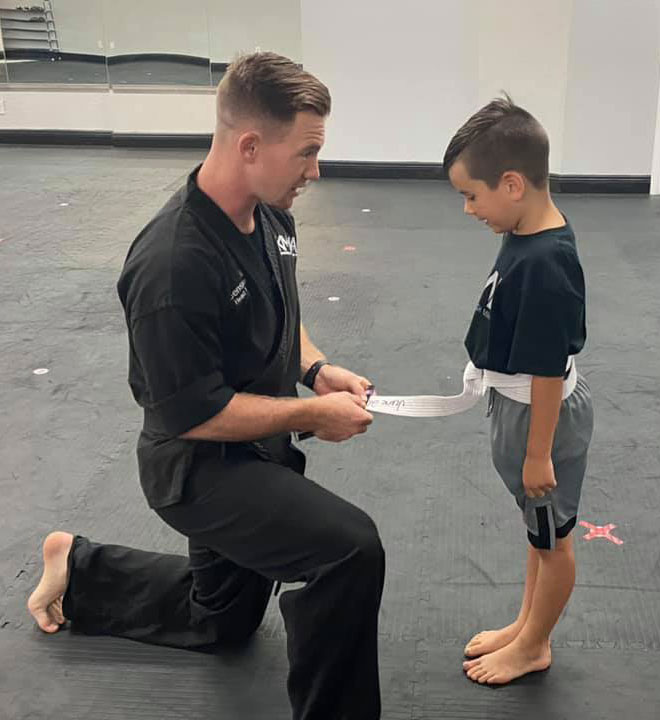 Kids martial arts student
